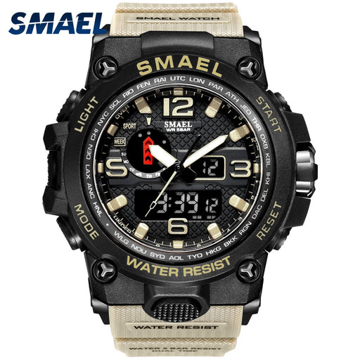 Men Military Waterproof Wristwatch LED Quartz Clock Sport Watch Glow Gravity