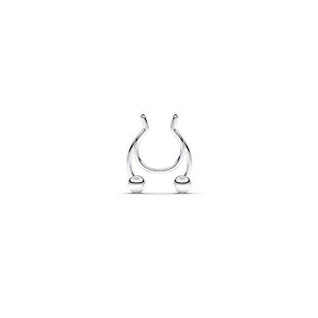 2020 new nose clip medical stainless steel nose ring piercing jewelry - Glow Gravity