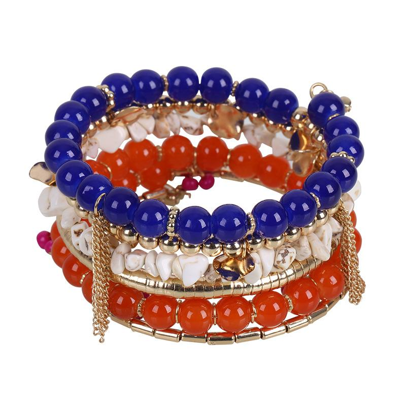 Alloy Beaded Multi-layered Bracelet