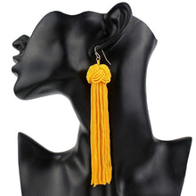 Load image into Gallery viewer, Bianca Knot Tassel Earrings