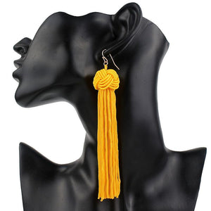 Bianca Knot Tassel Earrings