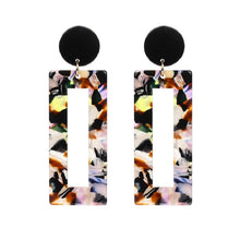 Load image into Gallery viewer, Lilian Printed Square Dangle Earrings