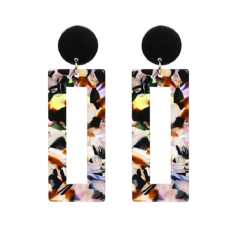 Lilian Printed Square Dangle Earrings