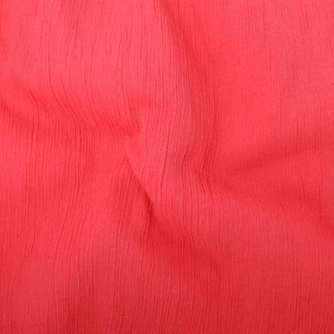 Crinkle Voile - Coral