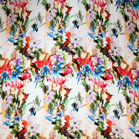 Monet Satin Print full repeat