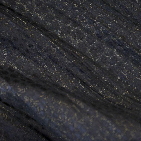Gold Dust Crinkle Chiffon