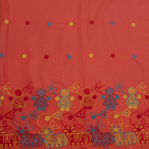 Haathi Embroidered Cotton