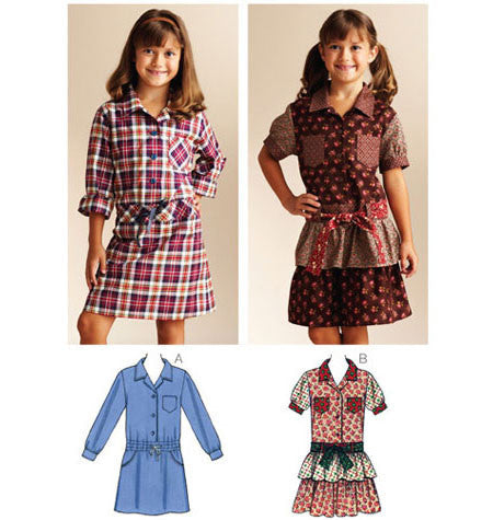 Girls' shirt dress