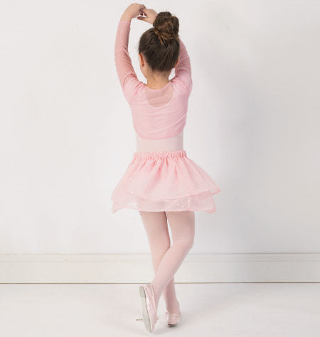 Girls' top, leotard and skirt