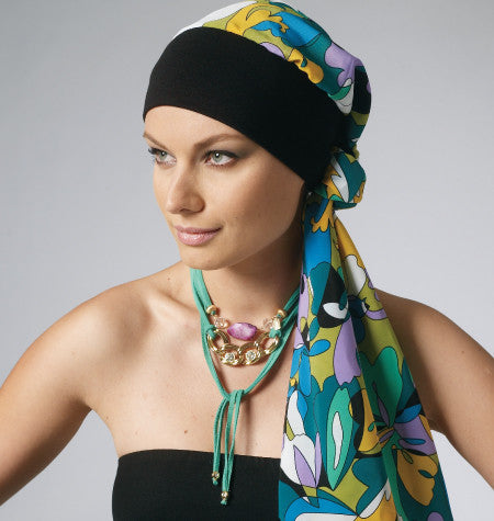 Womens Headband, Wrap and Hat