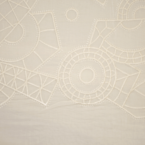 Abstract Embroidered Cotton border