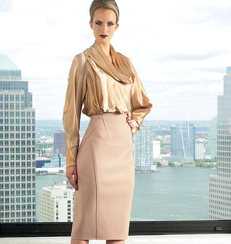Donna Karan Work Top and Skirt