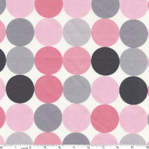 Disco Dot Pink and Grey