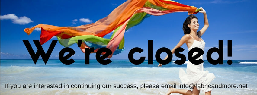 We are closed for Summer. Back Sewing from September 4th!