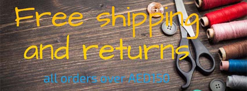 Free Shipping and Returns for orders over AED150