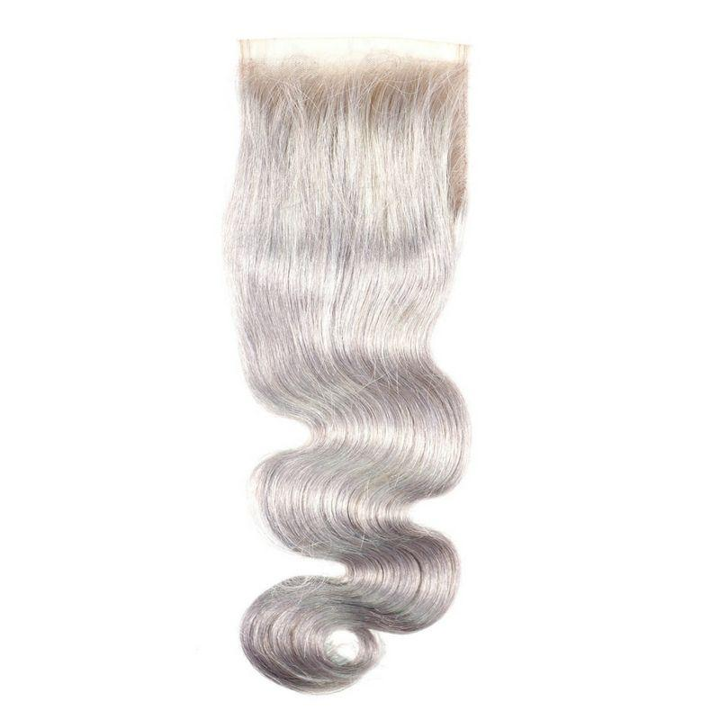 Gray Body Wave Closure - MaleahMoura Beauty Supply