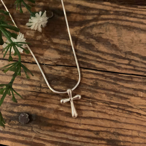 Rounded Cross Pendant - Apothecary Gift Shop
