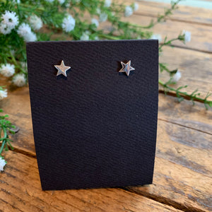 Sterling Silver Small Star Post Earrings - Apothecary Gift Shop