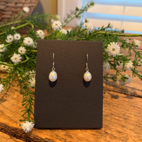 Freshwater Pearl French Hook Earrings - Apothecary Gift Shop