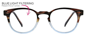 Eyeglasses Dynomite Blue/Brown