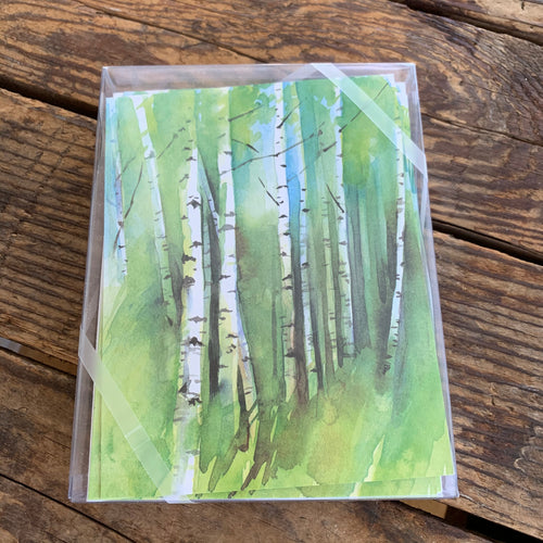 Birch Grove Boxed Notecards - Apothecary Gift Shop