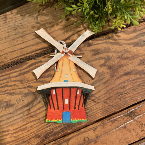 Hand Painted Windmill Ornament - Apothecary Gift Shop