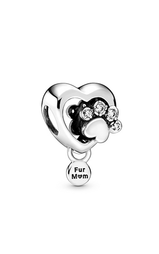 Sparkling Paw Print & Heart Charm - Apothecary Gift Shop