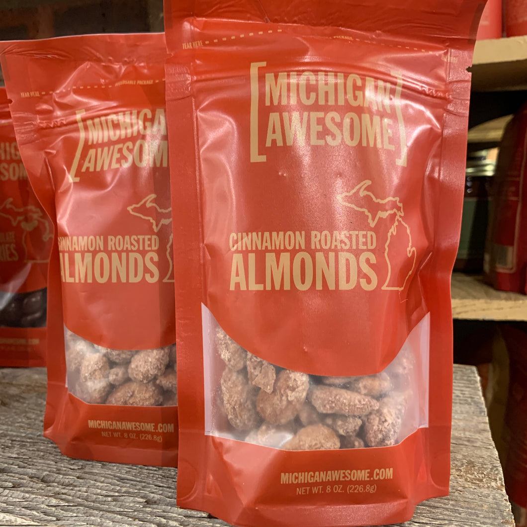 Michigan Awesome Cinnamon Roasted Almonds