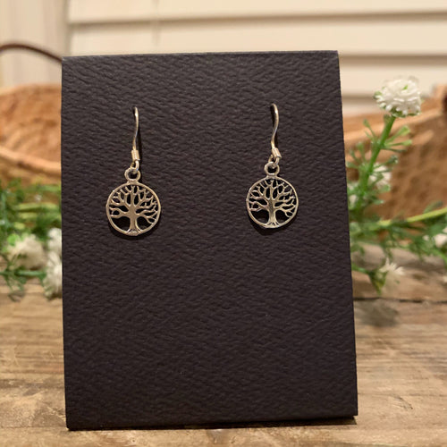 Family Tree Circle French Hook Earrings - Apothecary Gift Shop