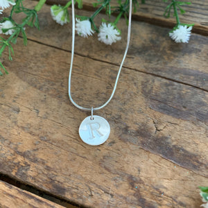 Round Initial Pendant - Apothecary Gift Shop