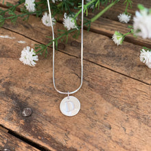 Load image into Gallery viewer, Round Initial Pendant - Apothecary Gift Shop