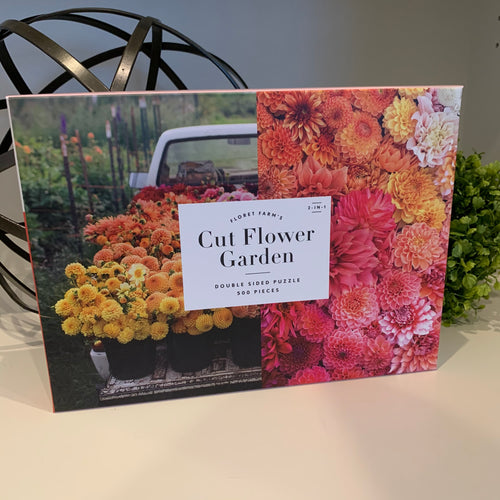 Cut Flower Garden Double Sided Puzzle - Apothecary Gift Shop