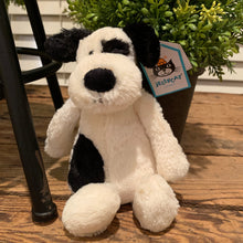 Load image into Gallery viewer, Bashful Black & White Puppy Jellycat Stuffed Animal - Apothecary Gift Shop