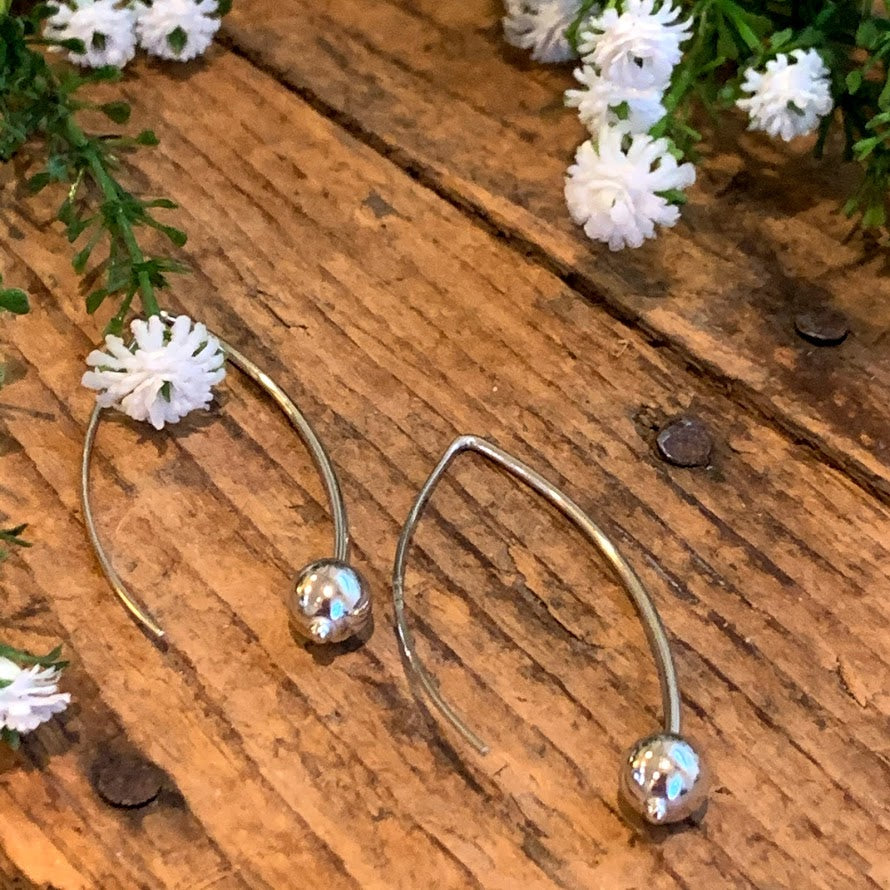 6mm Ball Easy Hook Earrings - Apothecary Gift Shop