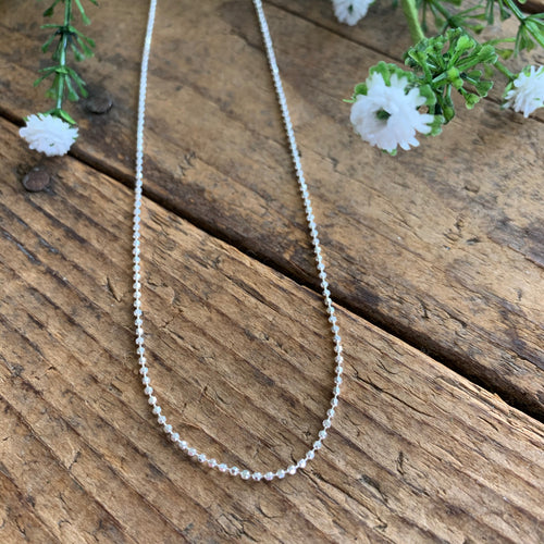 Sterling Silver D/C Beaded Chain 1.5mm - Apothecary Gift Shop