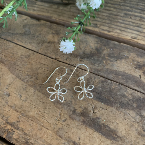 Sterling Silver Mini Flower Earrings - Apothecary Gift Shop