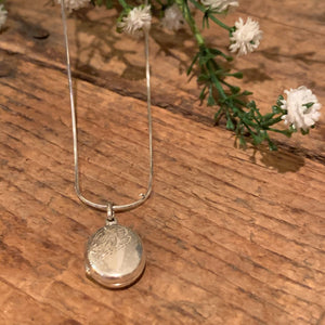 Etched Locket Pendant - Apothecary Gift Shop