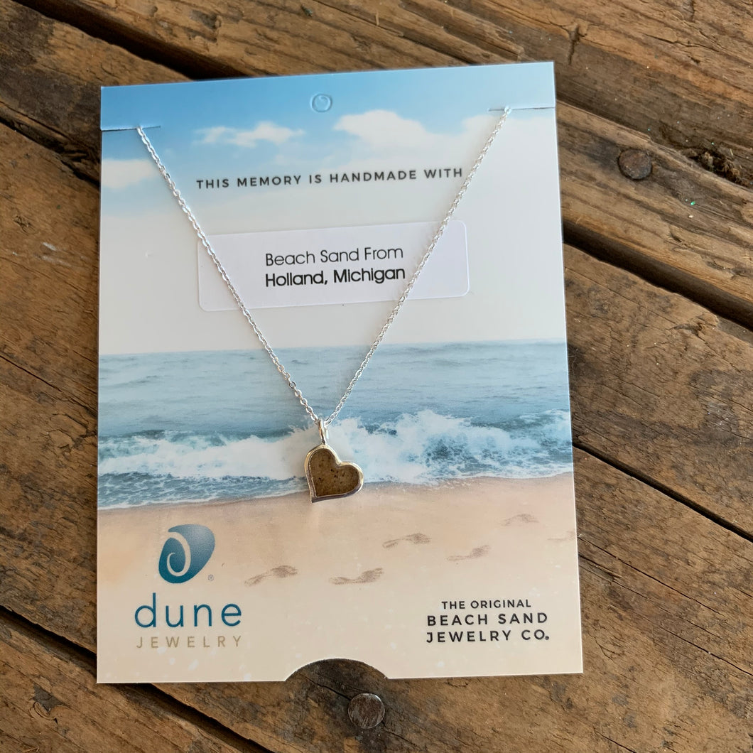 Sand Heart Necklace by Dune Jewelry - Apothecary Gift Shop