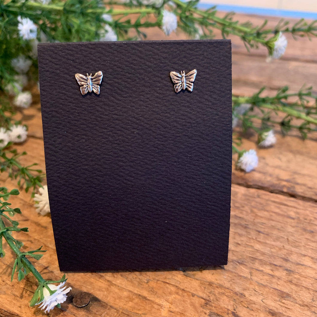 Sterling Silver Butterfly Post Earrings - Apothecary Gift Shop