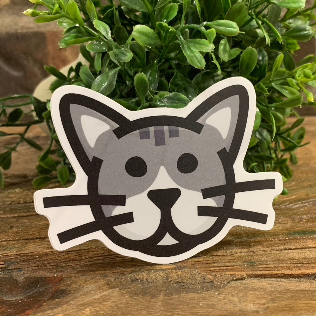 Gray Cat Sticker