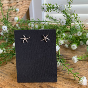 Sterling Silver Starfish Post Earrings - Apothecary Gift Shop