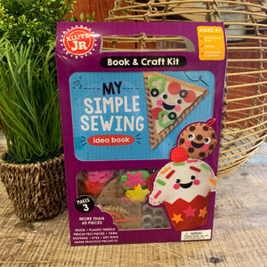 Simple Sewing Book & Craft Kit by Klutz - Apothecary Gift Shop
