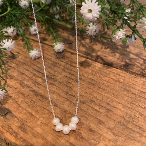Five Strand Pearl Necklace - Apothecary Gift Shop