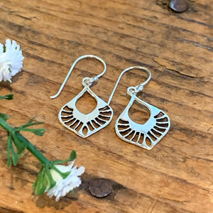 Fanned Out Teardrop Earrings - Apothecary Gift Shop