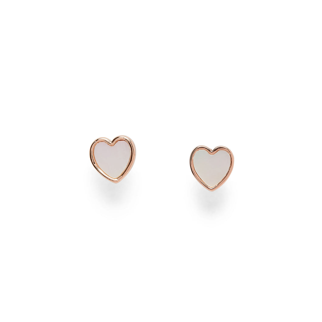 Pura Vida Heart of Pearl Earrings Rose Gold - Apothecary Gift Shop