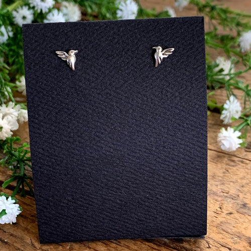 Hummingbird Post Earrings - Apothecary Gift Shop