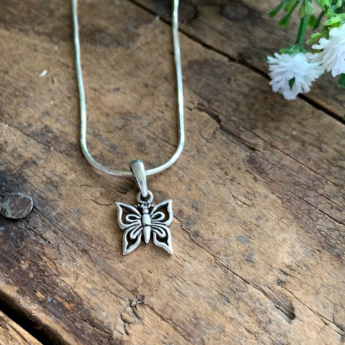 Sterling Silver Butterfly Pendant - Apothecary Gift Shop
