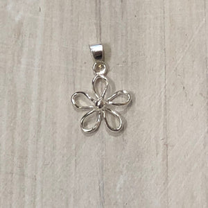 Sterling Silver Mini Flower Pendant - Apothecary Gift Shop