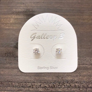 Sterling Silver Cubic Zirconia Stud - Apothecary Gift Shop