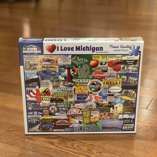 I Love Michigan Puzzle - Apothecary Gift Shop